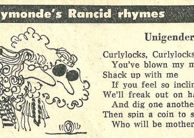 Roy Raymonde Cartoonist Raymonde's Rancid Rhymes Sunday Telegraph 4