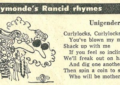 Roy Raymonde Cartoonist Raymonde's Rancid Rhymes Sunday Telegraph 4