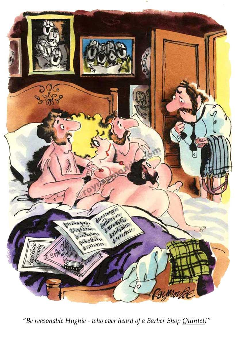 Roy Raymonde Playboy cartoon – Barber Shop Quintet