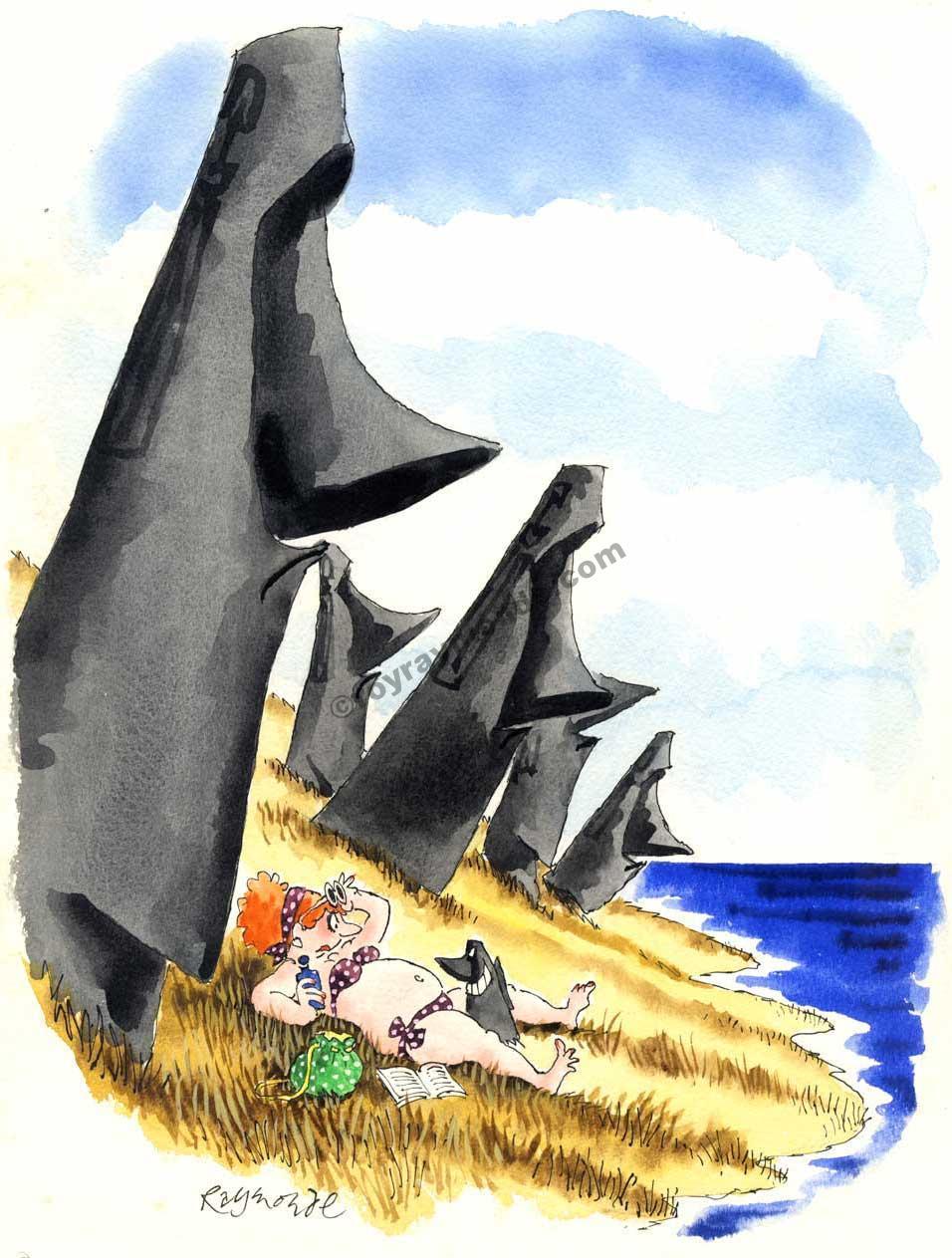 Roy Raymonde Playboy cartoon – Easter Island