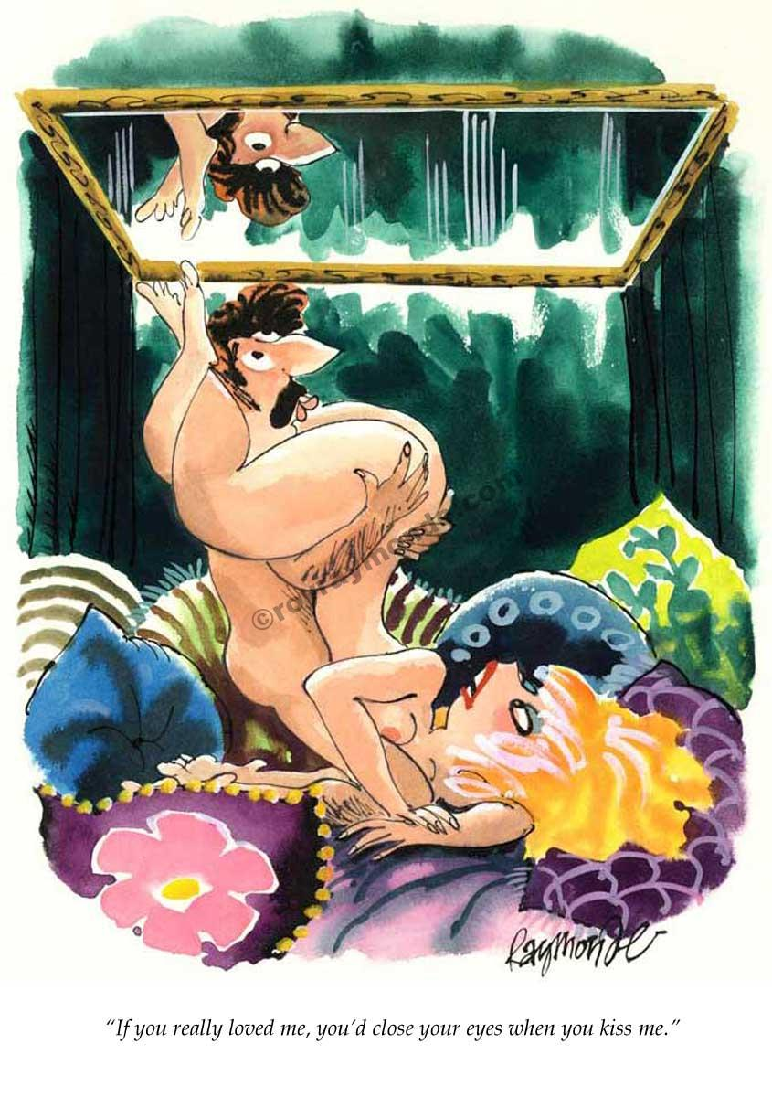 Roy Raymonde Playboy cartoon – close your eyes