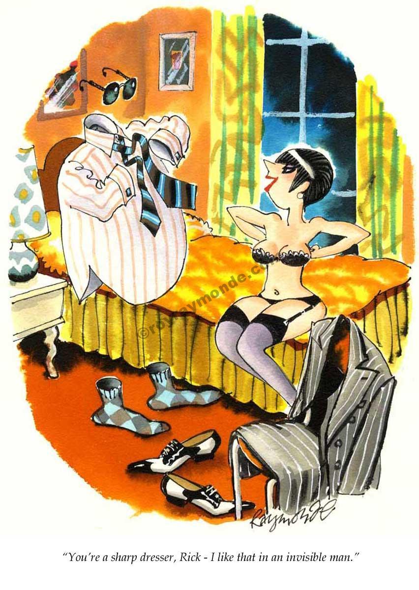 Roy Raymonde Playboy cartoon – invisible man