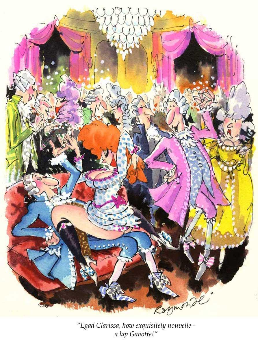 Roy Raymonde Playboy cartoon – a lap Gavotte