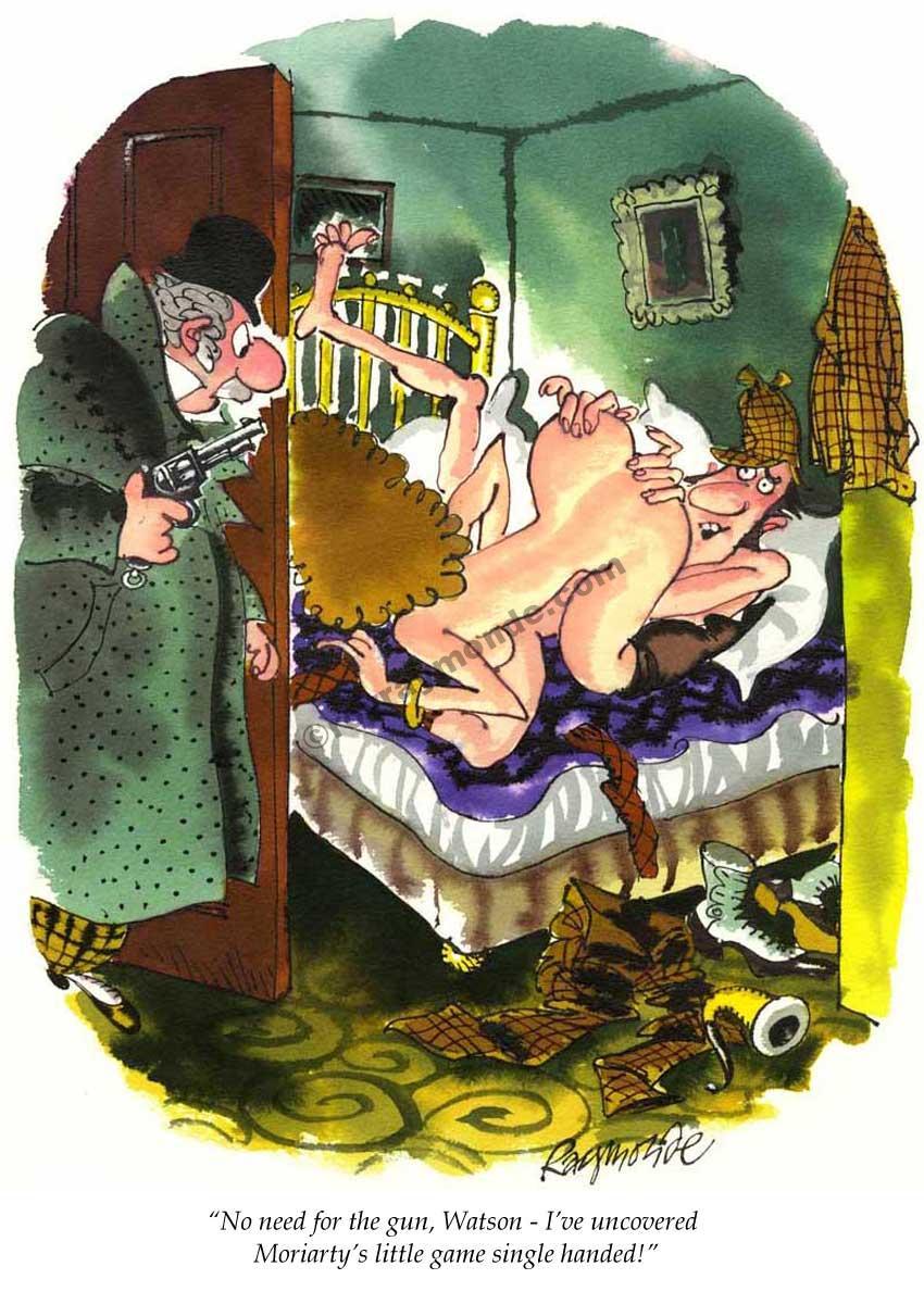 Roy Raymonde Playboy cartoon – Moriartys little game
