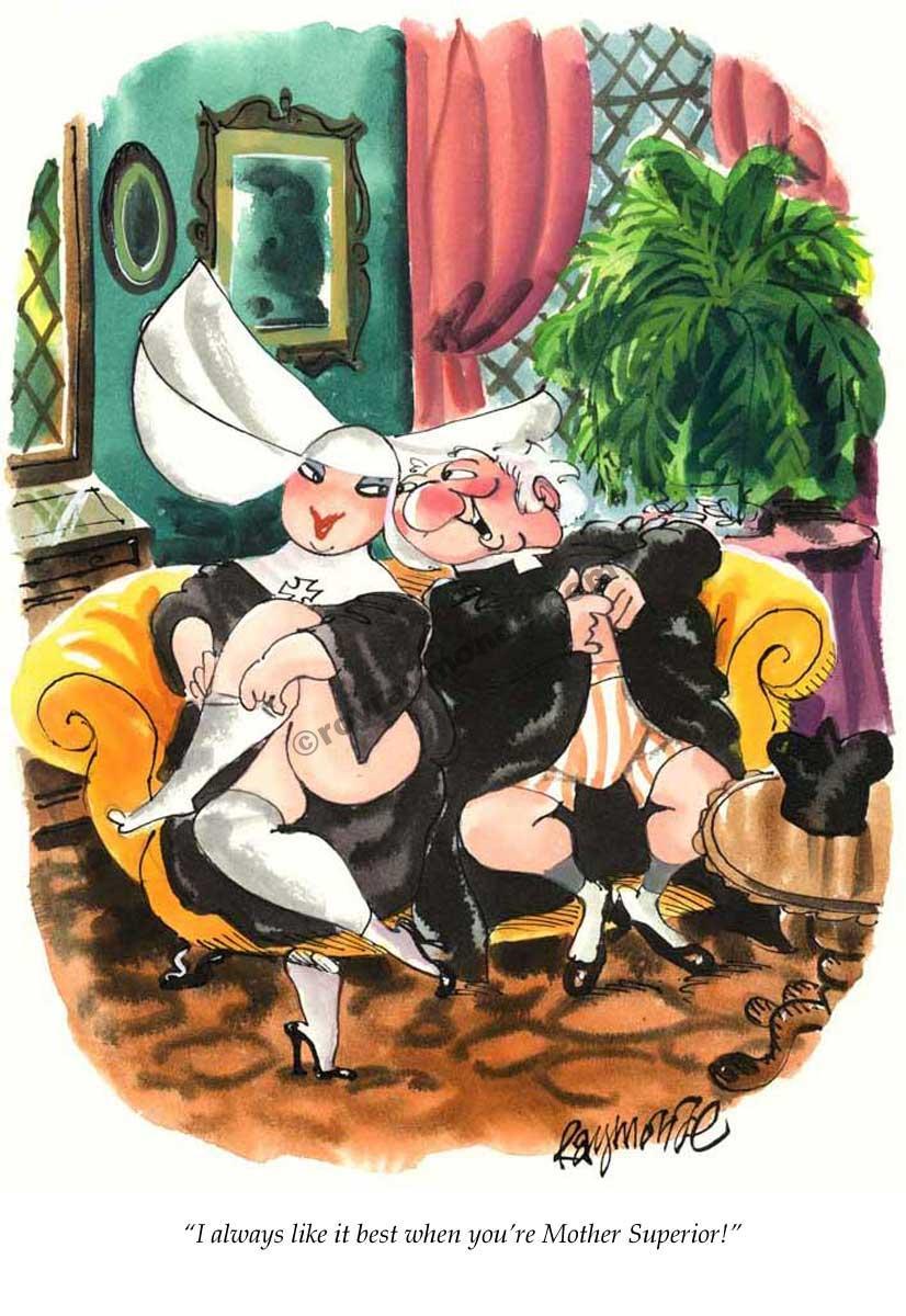 Roy Raymonde Playboy cartoon – Mother Superior