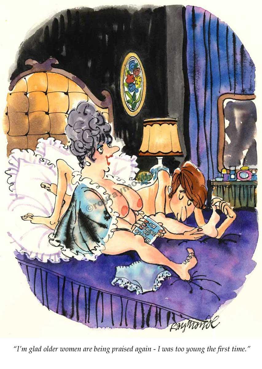Roy Raymonde Playboy cartoon – older women