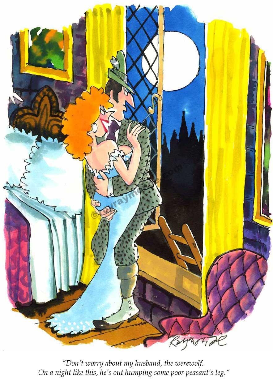 Roy Raymonde Playboy cartoon – the werewolf