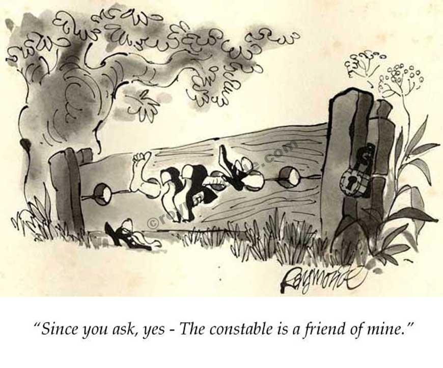 Roy Raymonde Playboy cartoon – the constable