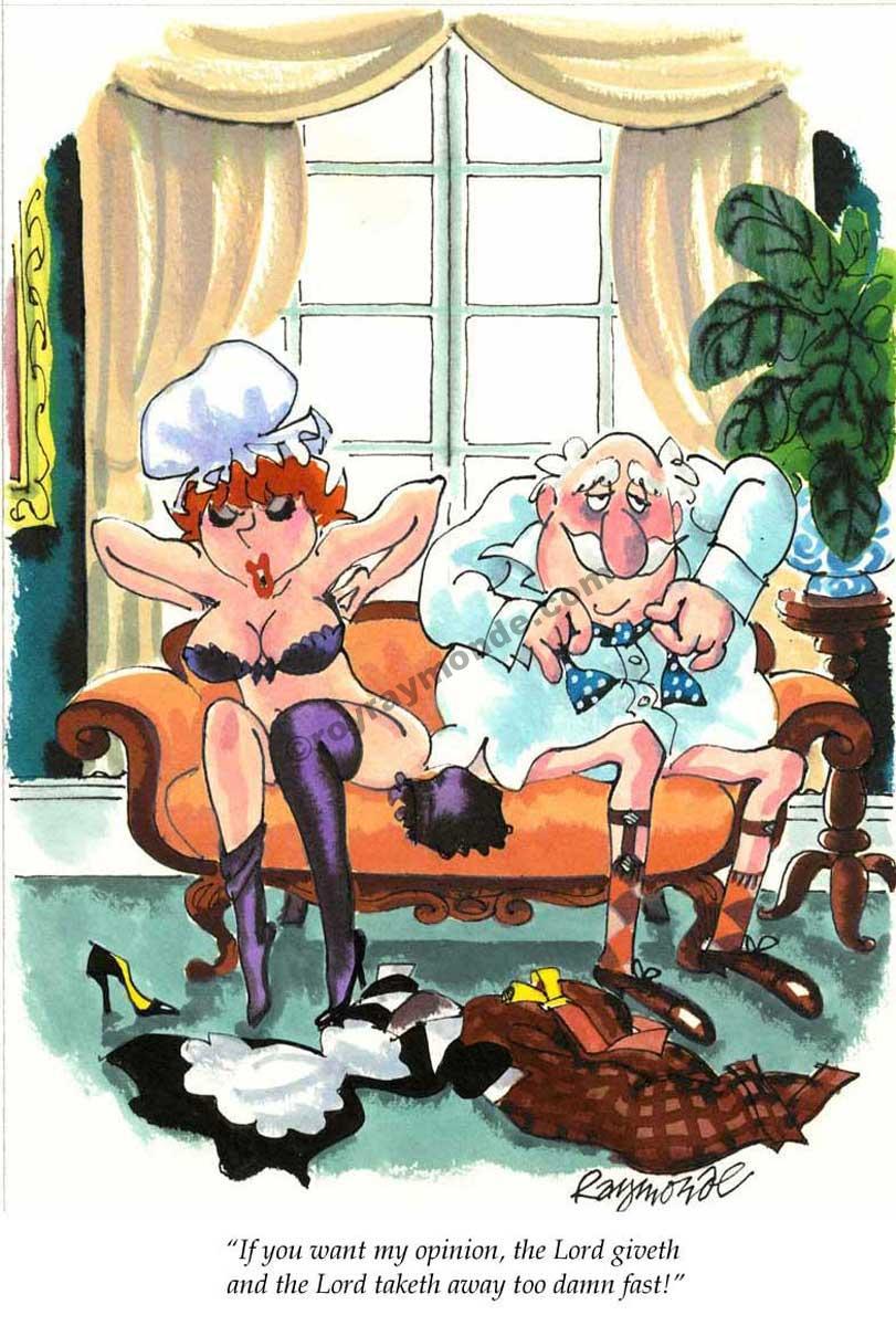 Roy Raymonde Playboy cartoon – Lord taketh away