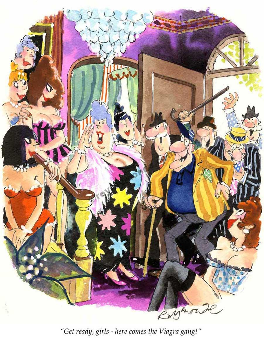 Roy Raymonde Playboy cartoon – Viagra gang