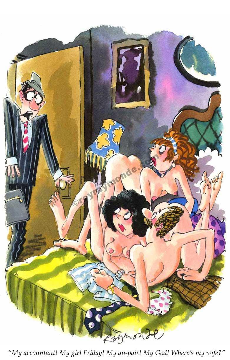 Roy Raymonde Playboy cartoon – wheres my wife