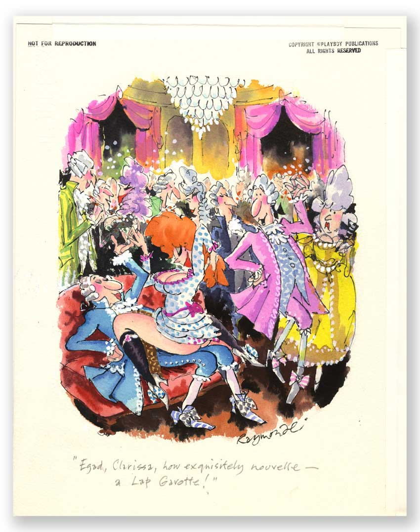 The Original signed and annotated Playboy artwork by cartoonist RoyRaymonde. Published November 1999