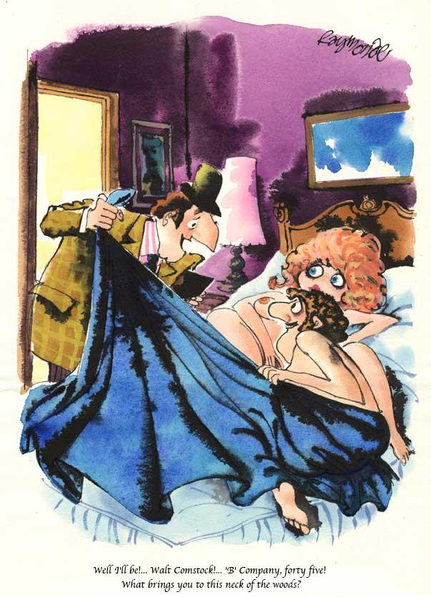 Published Playboy Cartoon Artwork June 1976 by cartoonist Roy Raymonde