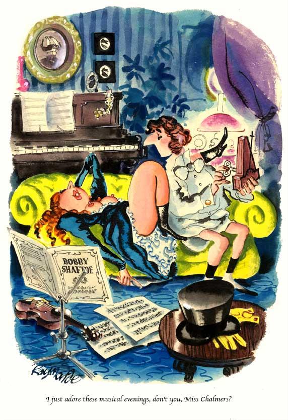 Published Playboy Cartoon Artwork Feb 1973 by Roy Raymonde