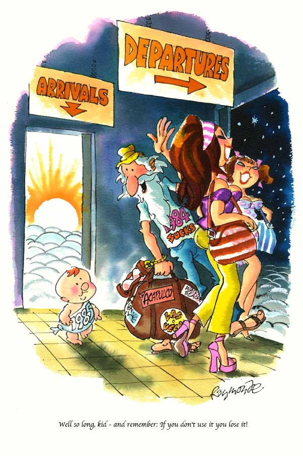 Published Playboy Cartoon Artwork Jan 1985 by Roy Raymonde