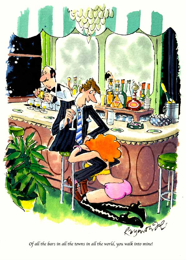 Published Playboy Cartoon Artwork Sep 1999 by cartoonist Roy Raymonde